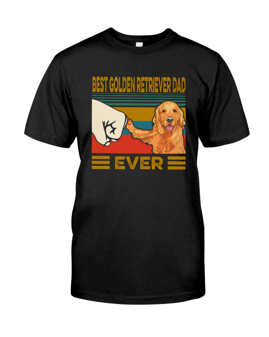 BEST GOLDEN RETRIEVER DAD EVER Classic T-Shirt