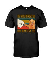 BEST GOLDEN RETRIEVER DAD EVER Classic T-Shirt front