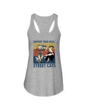 SUPPORT YOUR LOCAL STREET CATS VINTAGE Ladies Flowy Tank thumbnail