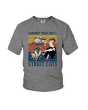 SUPPORT YOUR LOCAL STREET CATS VINTAGE Youth T-Shirt thumbnail