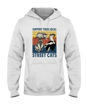 SUPPORT YOUR LOCAL STREET CATS VINTAGE Hooded Sweatshirt thumbnail