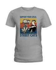SUPPORT YOUR LOCAL STREET CATS VINTAGE Ladies T-Shirt thumbnail