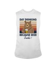 DAY DRINKING 2020 SUCKS BEER BEAR Sleeveless Tee thumbnail