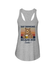 DAY DRINKING 2020 SUCKS BEER BEAR Ladies Flowy Tank thumbnail