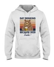 DAY DRINKING 2020 SUCKS BEER BEAR Hooded Sweatshirt thumbnail