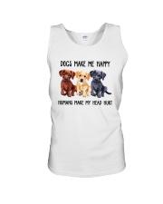 DOGS MAKE ME HAPPY HUMANS MAKE MY HEAD HURT Unisex Tank thumbnail