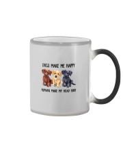 DOGS MAKE ME HAPPY HUMANS MAKE MY HEAD HURT Color Changing Mug thumbnail