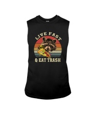 LIVE FAST AND EAT TRASH Sleeveless Tee thumbnail