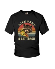 LIVE FAST AND EAT TRASH Youth T-Shirt thumbnail