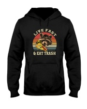 LIVE FAST AND EAT TRASH Hooded Sweatshirt thumbnail