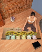 GOD SAYS YOU ARE Yoga Mat 70x24 (horizontal) aos-yoga-mat-lifestyle-19