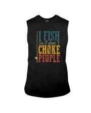 I FISH SO I DON'T CHOKE PEOPLE VINTAGE Sleeveless Tee thumbnail