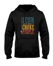I FISH SO I DON'T CHOKE PEOPLE VINTAGE Hooded Sweatshirt thumbnail
