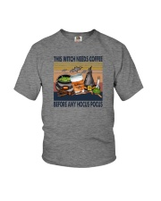 THIS WITCH NEEDS COFFEE Youth T-Shirt thumbnail