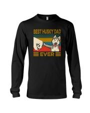 BEST HUSKY DAD EVER Long Sleeve Tee thumbnail