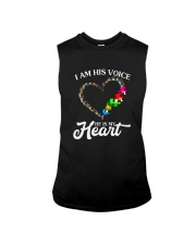 I AM HIS VOICE HE IS MY HEART Sleeveless Tee thumbnail