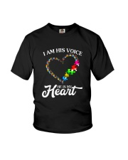 I AM HIS VOICE HE IS MY HEART Youth T-Shirt thumbnail