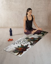 BUDDHA OM SYMBOL YOGA Yoga Mat 70x24 (horizontal) aos-yoga-mat-lifestyle-18
