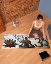 BUDDHA OM SYMBOL YOGA Yoga Mat 70x24 (horizontal) aos-yoga-mat-lifestyle-19