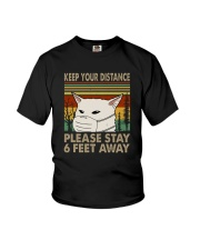 FUNNY PUG PLEASE STAY 6 FEET AWAY Youth T-Shirt thumbnail