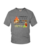 THE CAMPFIRE WAS LIT AND THERE WAS TEQUILA Youth T-Shirt thumbnail