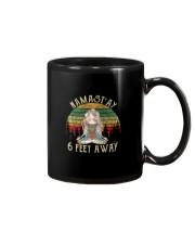 NAMAST'AY 6 FEET AWAY SKULL Mug thumbnail