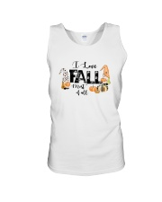 I LOVE FALL MOST OF ALL Unisex Tank thumbnail