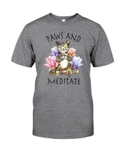 PAWS AND MEDITATE Classic T-Shirt front
