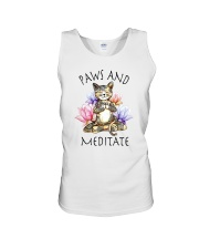 PAWS AND MEDITATE Unisex Tank thumbnail