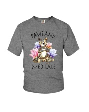 PAWS AND MEDITATE Youth T-Shirt thumbnail