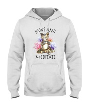 PAWS AND MEDITATE Hooded Sweatshirt thumbnail