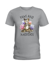 PAWS AND MEDITATE Ladies T-Shirt thumbnail