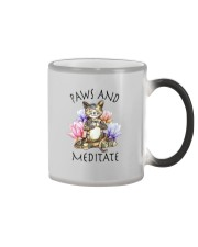 PAWS AND MEDITATE Color Changing Mug thumbnail