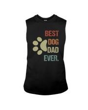BEST DOG DAD EVER VINTAGE Sleeveless Tee thumbnail