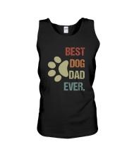BEST DOG DAD EVER VINTAGE Unisex Tank thumbnail