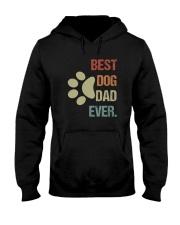 BEST DOG DAD EVER VINTAGE Hooded Sweatshirt thumbnail