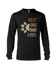 BEST DOG DAD EVER VINTAGE Long Sleeve Tee thumbnail