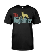 THE DOGFATHER GERMAN SHEPHERD Classic T-Shirt front