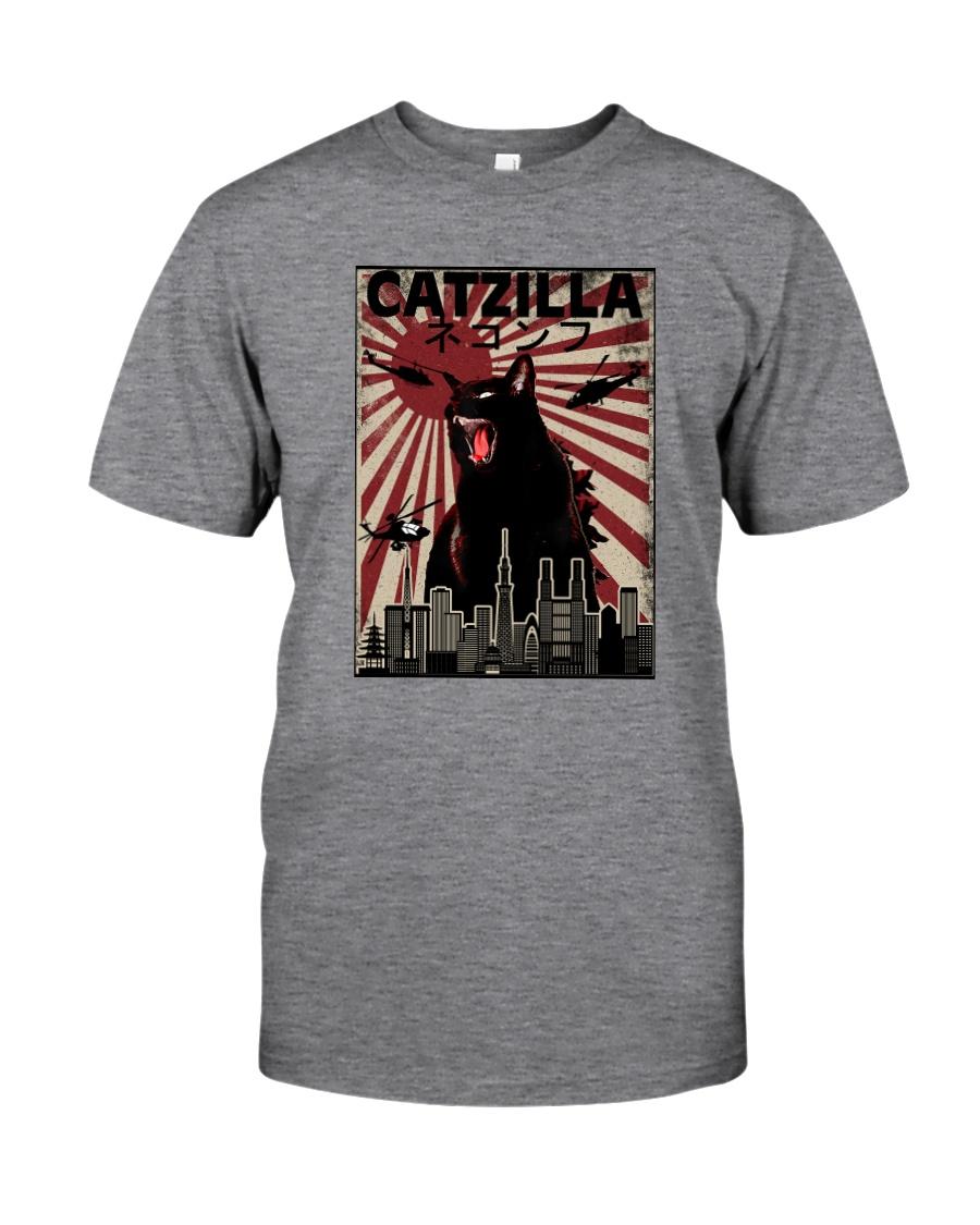 VINTAGE CATZILLA JAPANESE SUNSET STYLE Classic T-Shirt