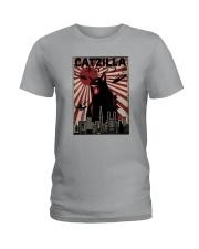 VINTAGE CATZILLA JAPANESE SUNSET STYLE Ladies T-Shirt thumbnail
