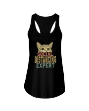 SOCIAL DISTANCING EXPERT VINTAGE Ladies Flowy Tank thumbnail