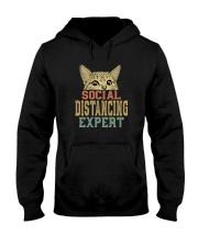 SOCIAL DISTANCING EXPERT VINTAGE Hooded Sweatshirt thumbnail