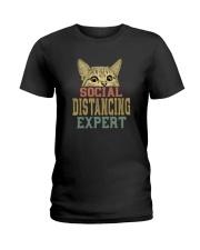 SOCIAL DISTANCING EXPERT VINTAGE Ladies T-Shirt thumbnail