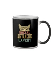 SOCIAL DISTANCING EXPERT VINTAGE Color Changing Mug thumbnail