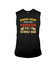 BEHIND SMARTASS DAUGHTER IS A TRULY AHOLE DAD Sleeveless Tee thumbnail
