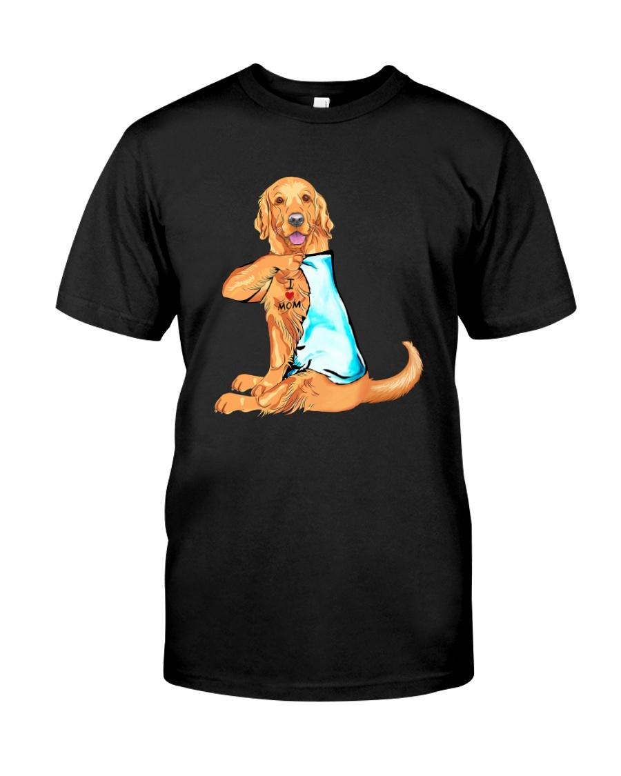 GOLDEN RETRIEVER I LOVE MOM Classic T-Shirt