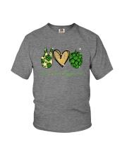 PEACE LOVE HOPPINESS Youth T-Shirt thumbnail