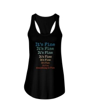 IT'S FINE EVERYTHING IS FINE Ladies Flowy Tank thumbnail