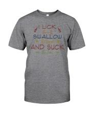 LICK SALT SWALLOW TEQUILA SUCK LIME Classic T-Shirt tile