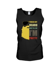 TOUCH MY BEARD AND TELL ME I'M PRETTY Unisex Tank thumbnail